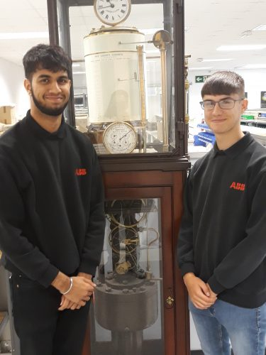 Pawal Bajwa and Samuel Barrett who are currently working as apprentices with ABB Measurement & Analytics in St Neots. Their training will see them gaining experience across the business, covering all areas from product assembly through to sales and service.